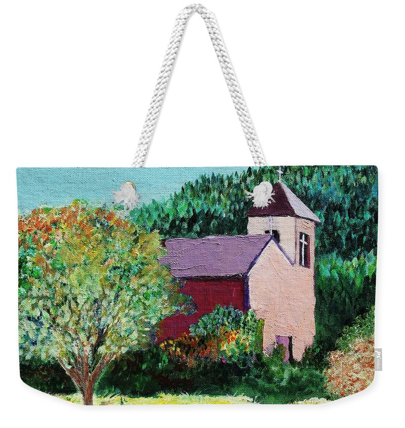 Church Weekender Tote Bag featuring the painting Ruidoso by Melinda Etzold
