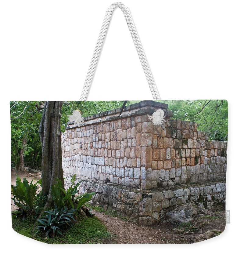 Weekender Tote Bag featuring the photograph Ruins Chichen Itza 1 by Douglas Barnett