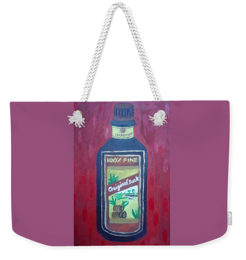 Oil On Canvas Weekender Tote Bag featuring the painting Rum by Patrice Tullai