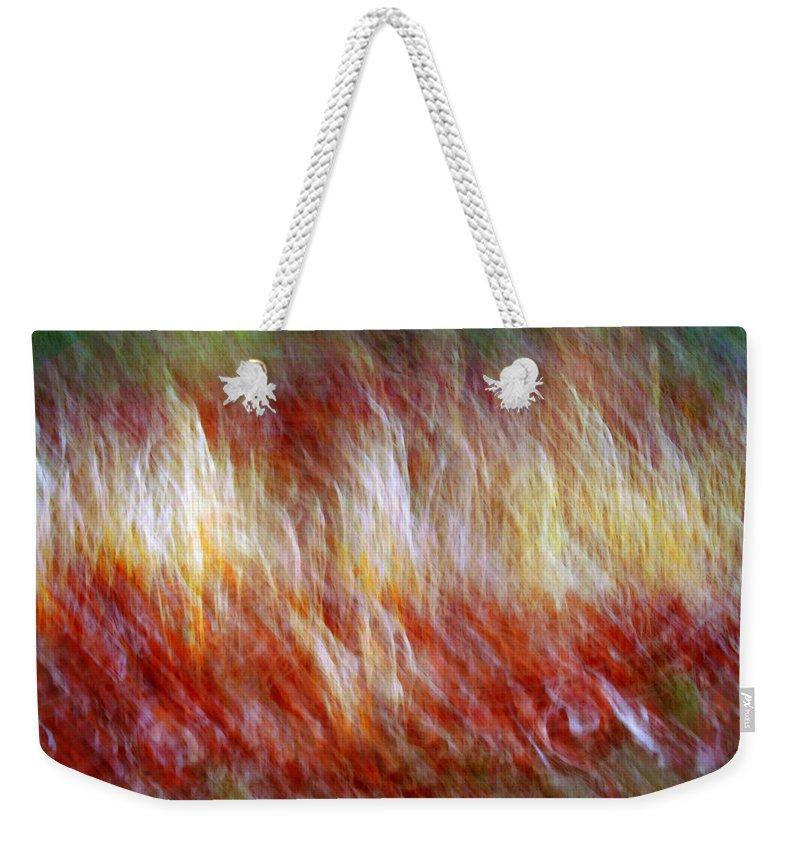 Abstract Art Weekender Tote Bag featuring the digital art Run Like Hell by Linda Sannuti