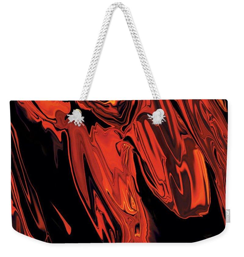 Figurative Weekender Tote Bag featuring the digital art Run by Rabi Khan