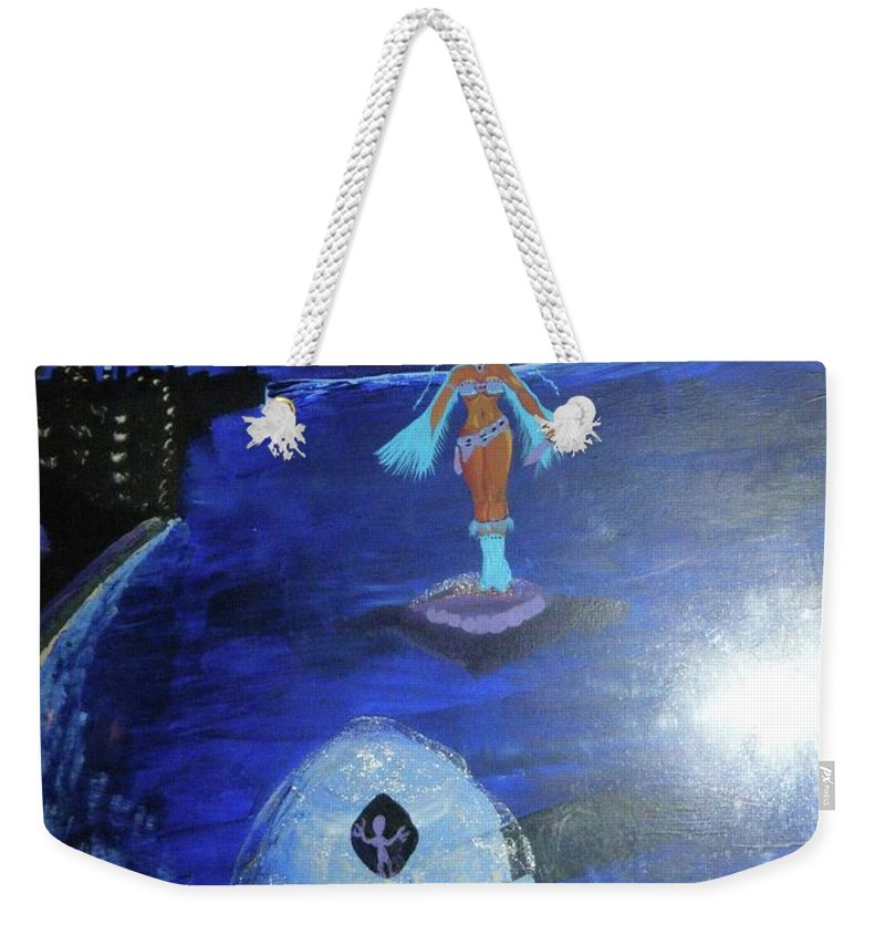 Weekender Tote Bag featuring the painting Run by Subbora Jackson