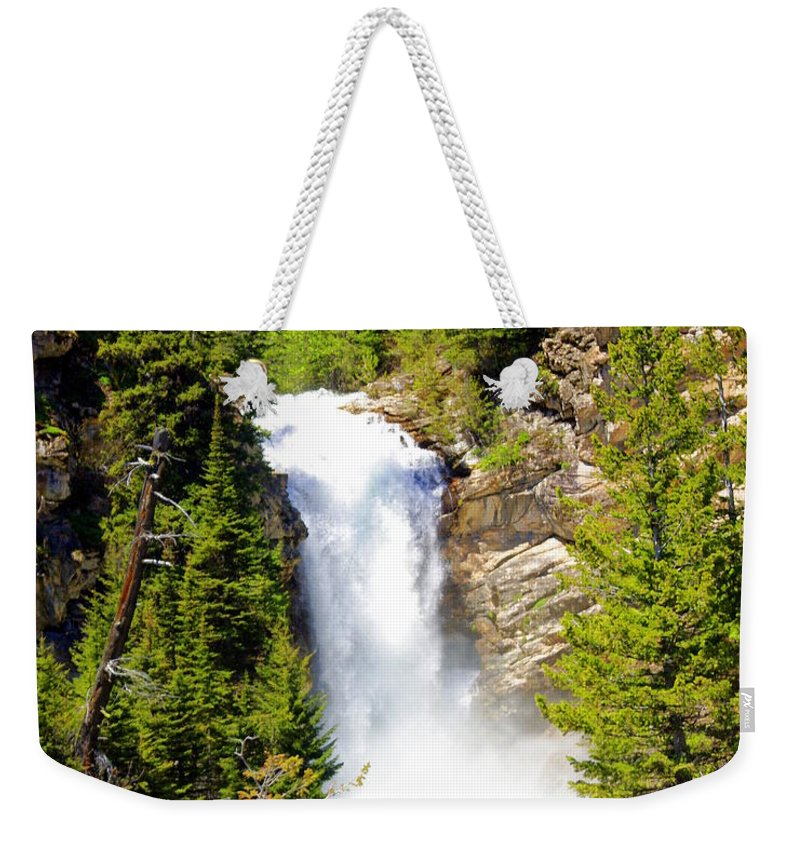 Waterfalls Weekender Tote Bag featuring the photograph Running Eagle Falls by Marty Koch