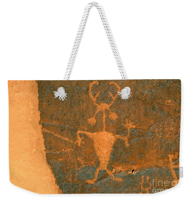 Running Weekender Tote Bag featuring the photograph Running Man by David Lee Thompson