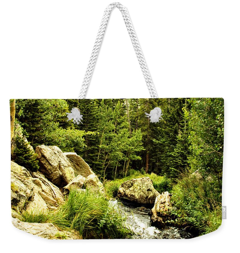 Colorado Weekender Tote Bag featuring the photograph Running River by Marilyn Hunt
