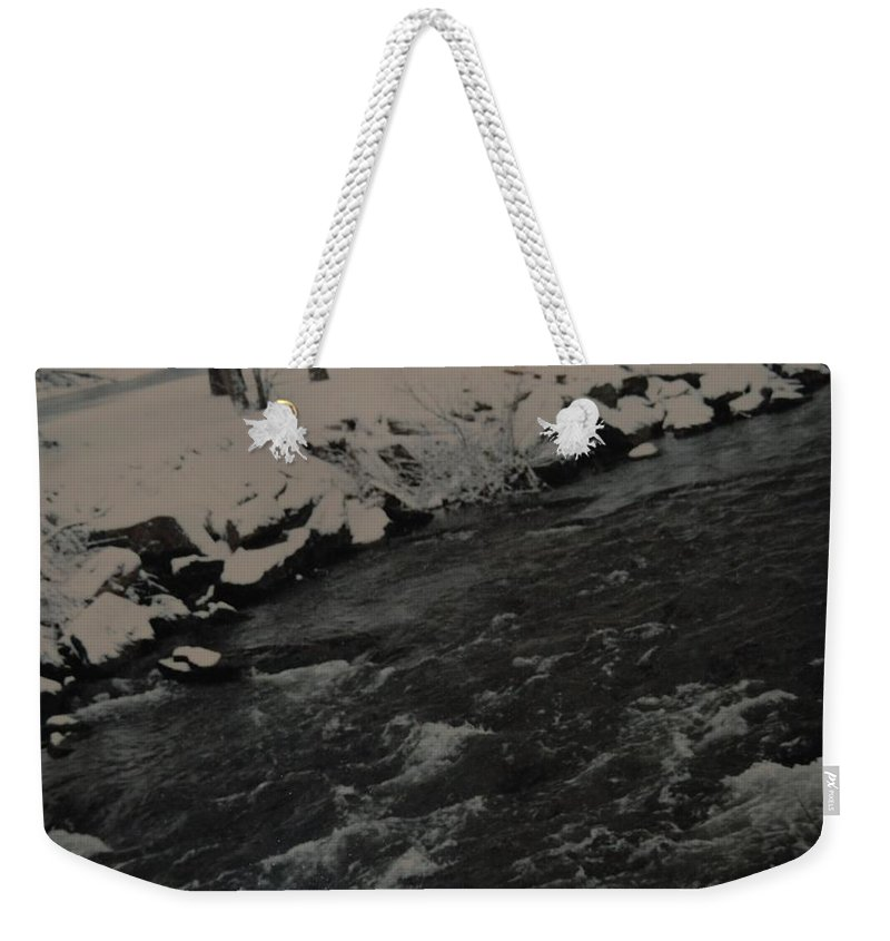 Landscape Weekender Tote Bag featuring the photograph Running Water by Rob Hans