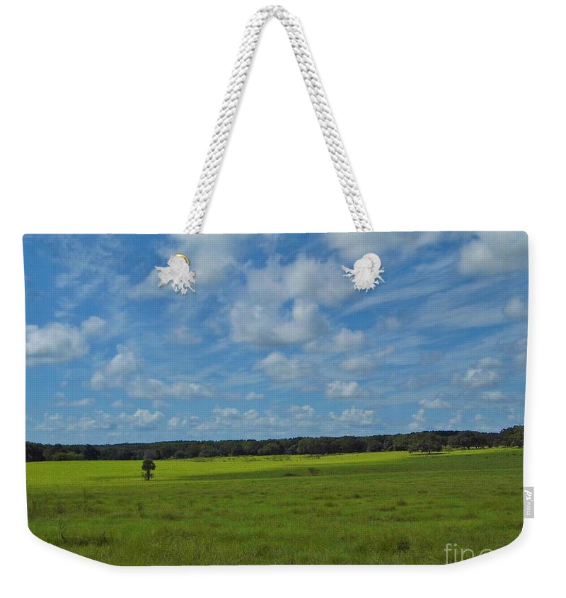 Blue Sky Weekender Tote Bag featuring the photograph Rural Beauty by D Hackett