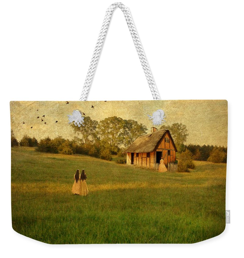 House Weekender Tote Bag featuring the photograph Rural Cottage by Jill Battaglia