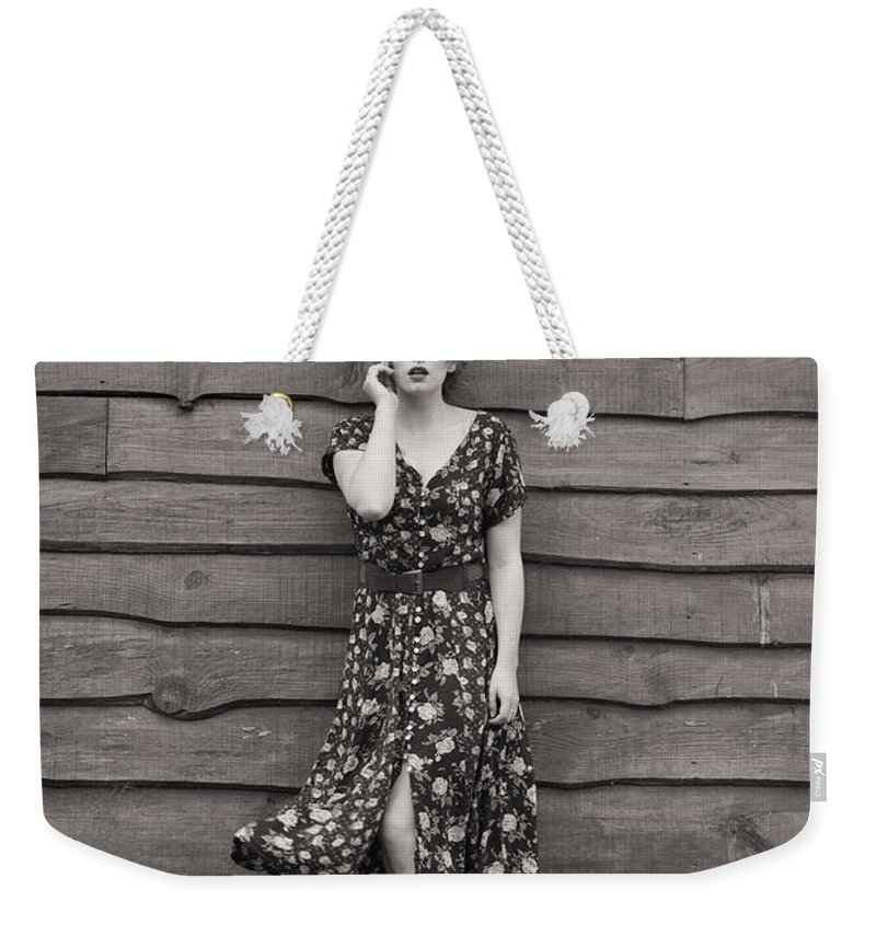 Slim Weekender Tote Bag featuring the photograph Rural Fashion by Clayton Bastiani