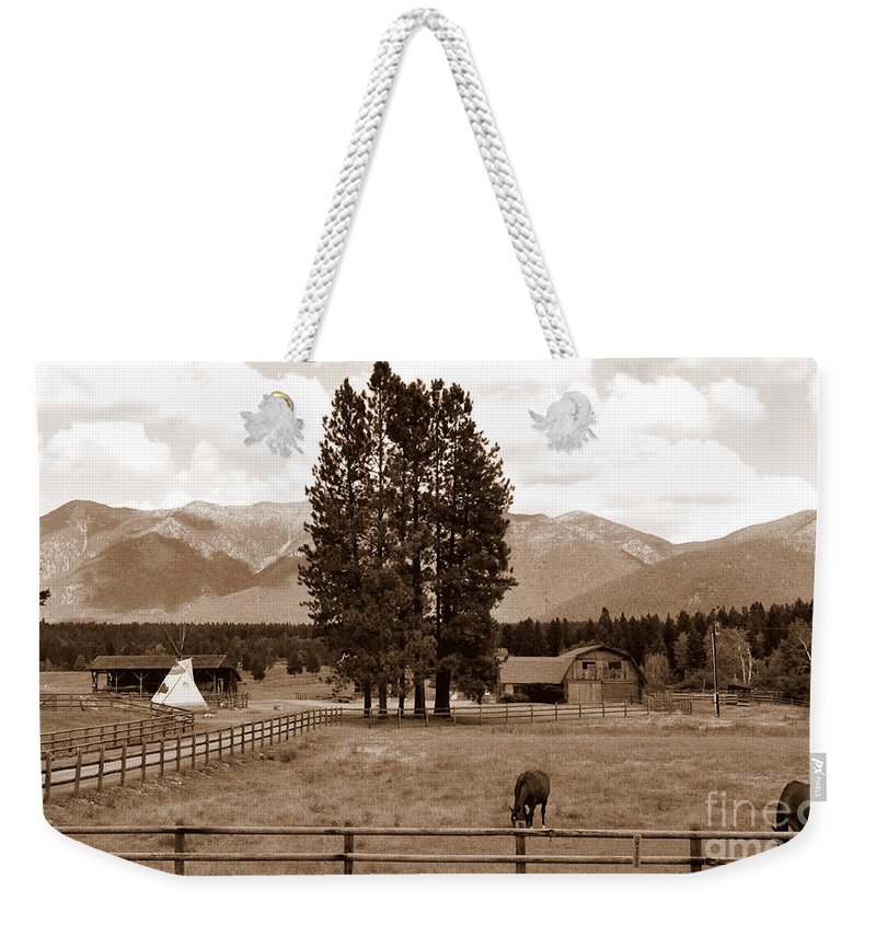 Montana Weekender Tote Bag featuring the photograph Rural Montana by Tanya Searcy