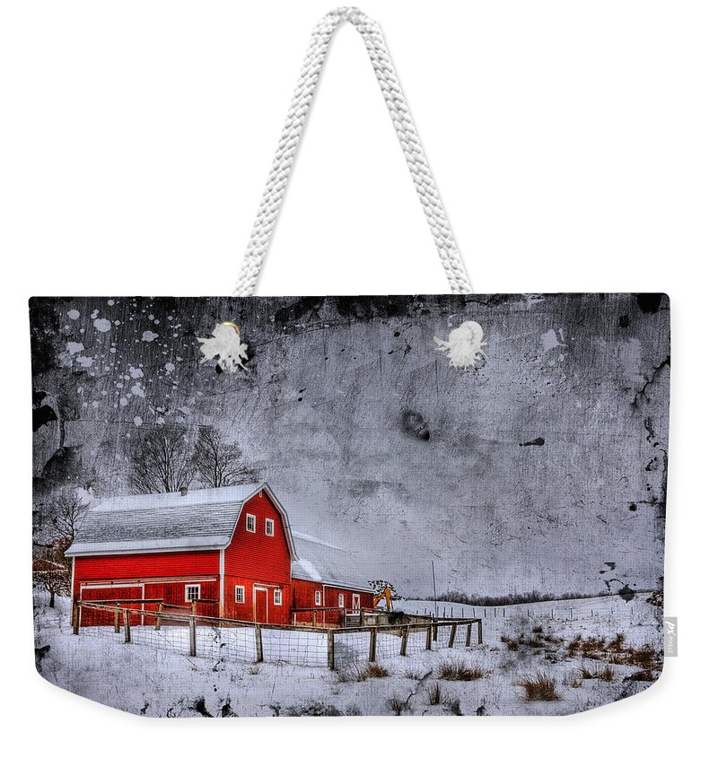 Barn Weekender Tote Bag featuring the photograph Rural Textures by Evelina Kremsdorf