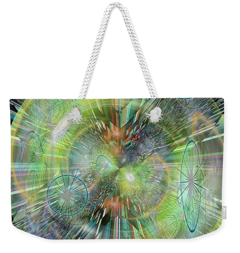Abstract Weekender Tote Bag featuring the digital art Rush Hour by Tim Allen