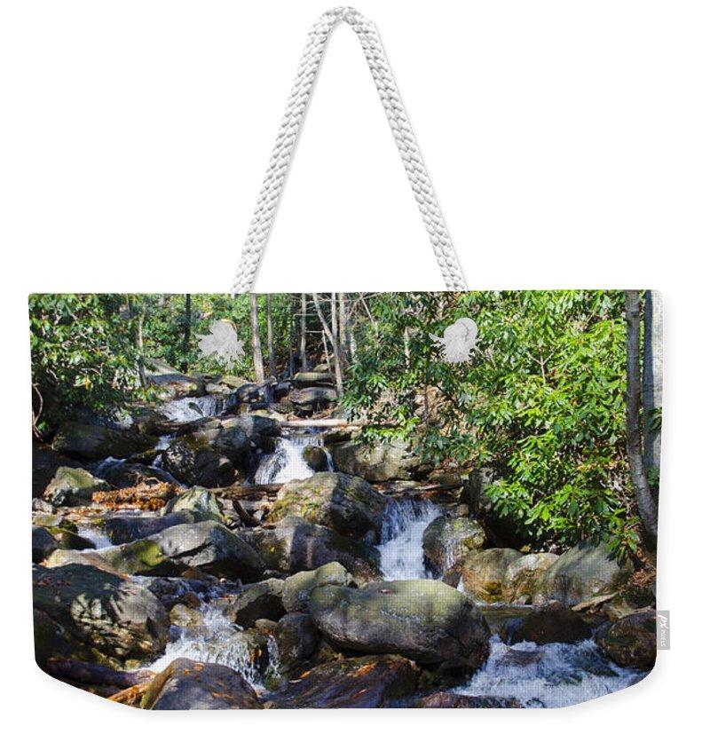 Glen Weekender Tote Bag featuring the photograph Rushing Water - Glen Onoko Falls by Bill Cannon