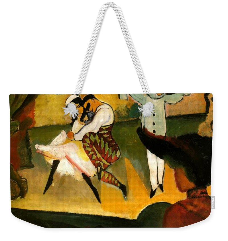 August Macke Weekender Tote Bag featuring the painting Russian Ballet by August Macke