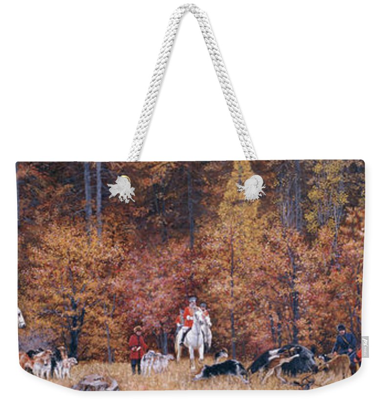 Russian Weekender Tote Bag featuring the painting Russian Hunting by Simon Kozhin