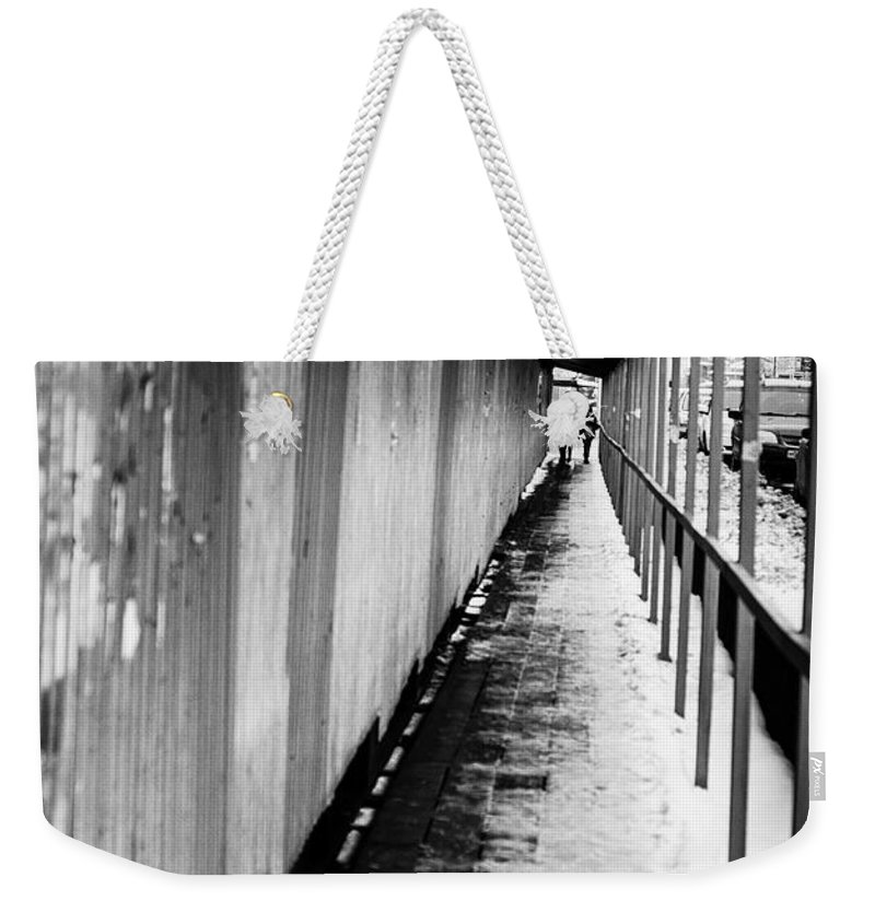 Online Gallery Weekender Tote Bag featuring the photograph Russian Street Scene Day November 2015 by John Williams