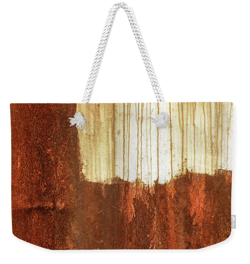 Abstract Weekender Tote Bag featuring the photograph Rust 01 by Richard Nixon