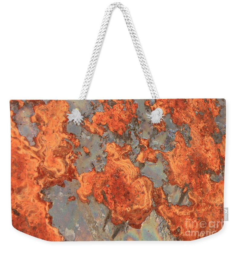 Rust Weekender Tote Bag featuring the photograph Rust Art by Carol Groenen