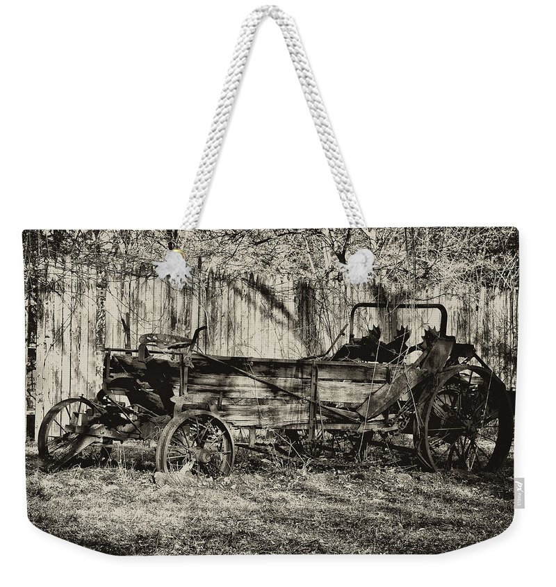 Farm Weekender Tote Bag featuring the photograph Rust Bucket by Bill Cannon