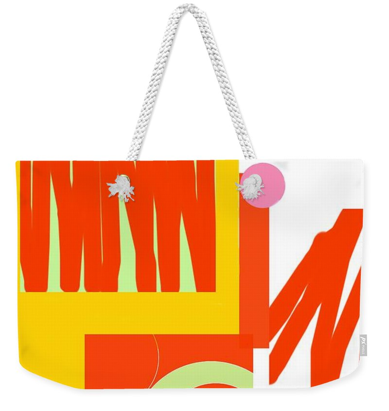 Rust.gold Weekender Tote Bag featuring the digital art Rust Gold 1 by Julia Woodman