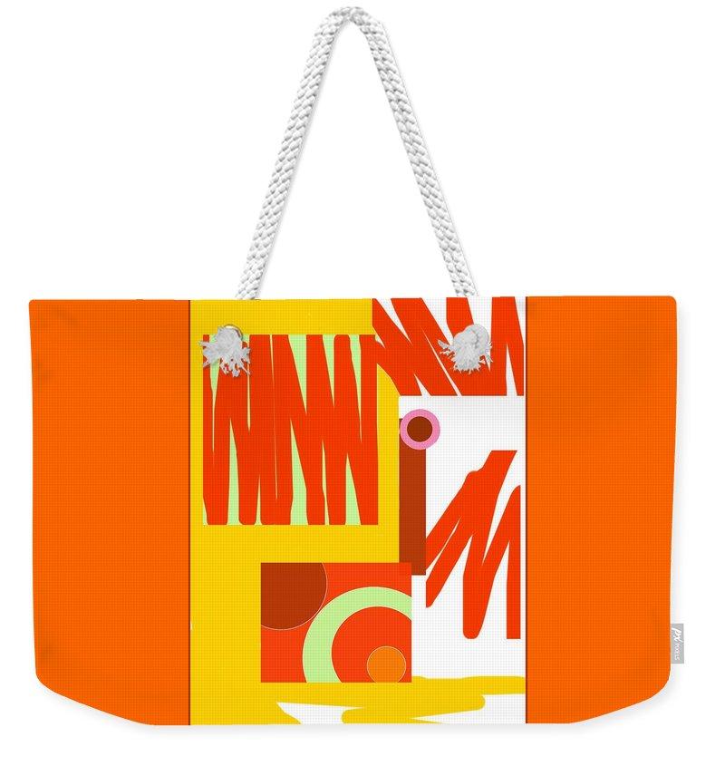 Rust Weekender Tote Bag featuring the digital art Rust Gold 3 by Julia Woodman