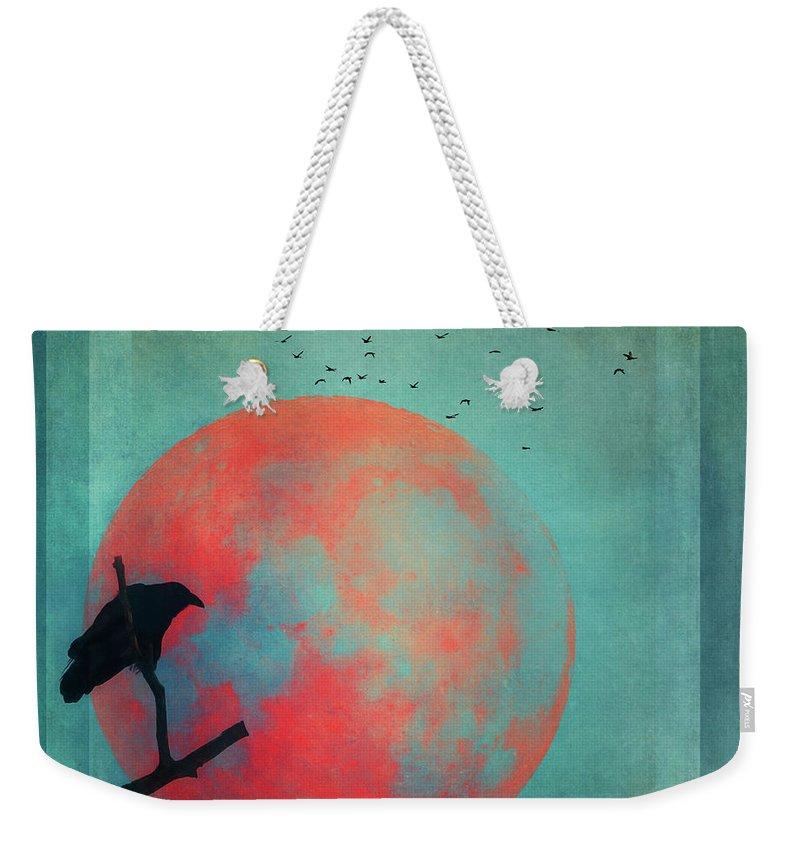 Raven Weekender Tote Bag featuring the photograph Rust Moon by Priska Wettstein
