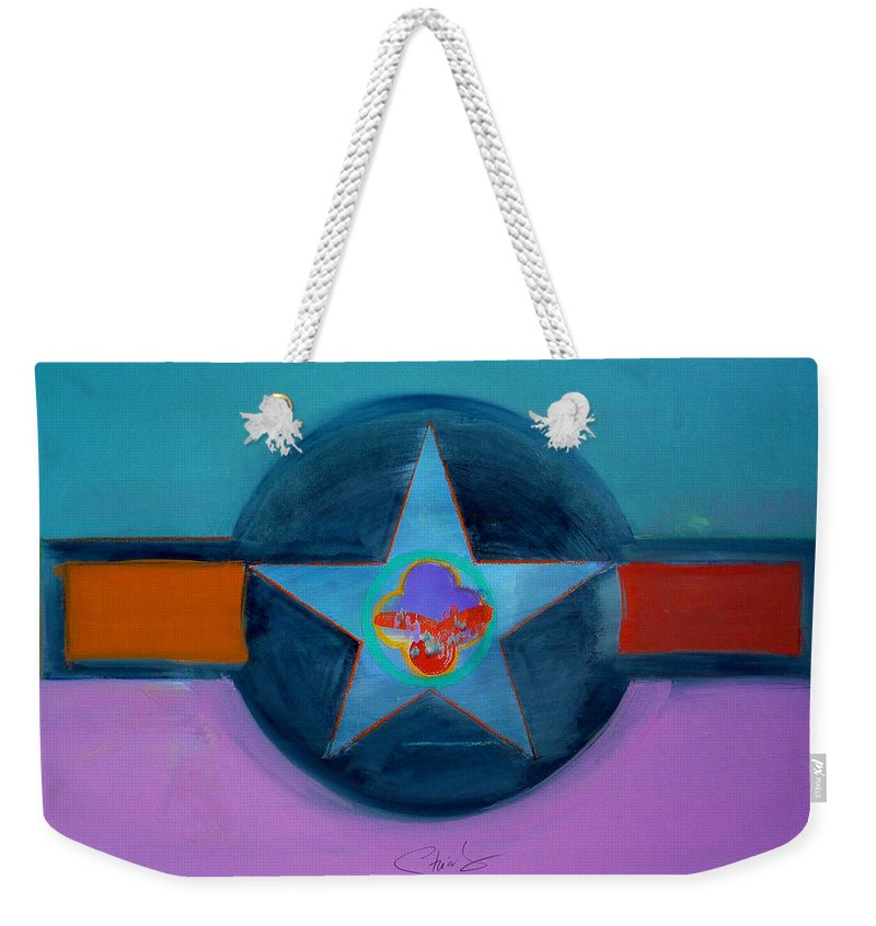 Star Weekender Tote Bag featuring the painting Rust Or Bust by Charles Stuart