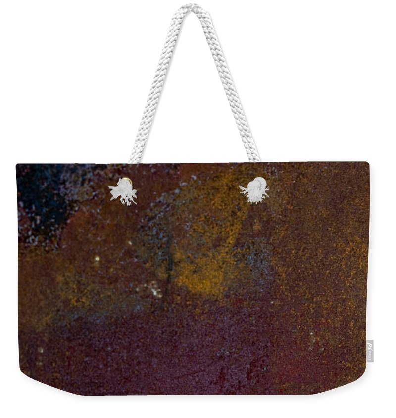 Rust Weekender Tote Bag featuring the photograph Rusted by Hannah Breidenbach
