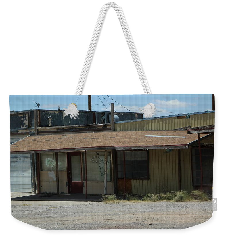 Abandoned Building Weekender Tote Bag featuring the photograph Rustic Abandoned Building on the Road in New Mexico by Colleen Cornelius