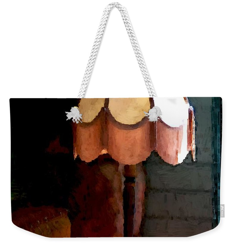 Antiques Weekender Tote Bag featuring the painting Rustic Elegance by RC DeWinter