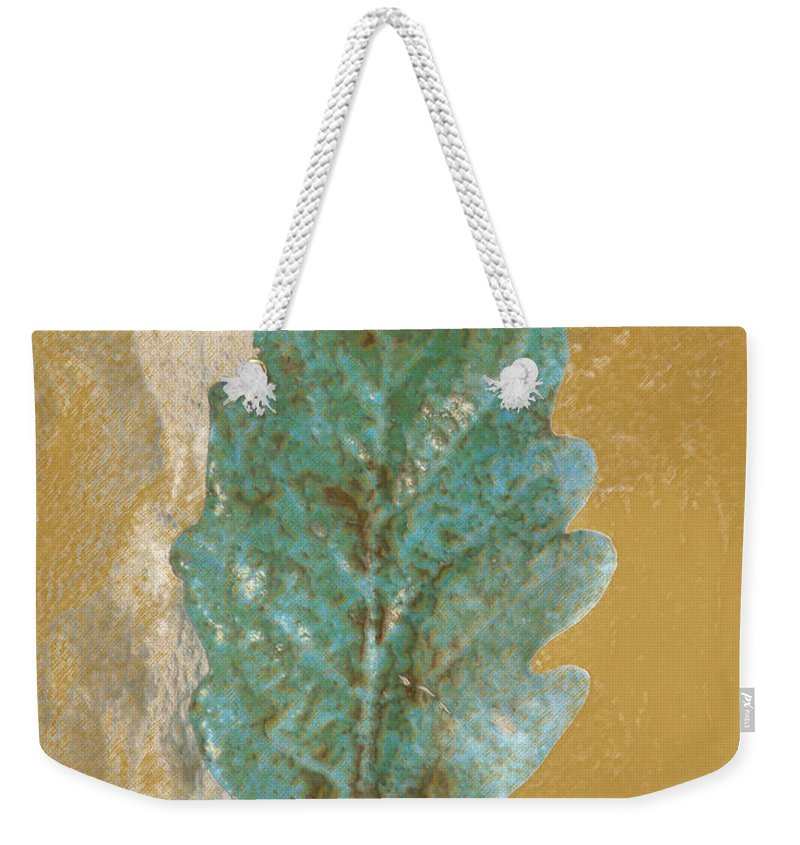 Leaves Weekender Tote Bag featuring the photograph Rustic Leaf by Linda Sannuti