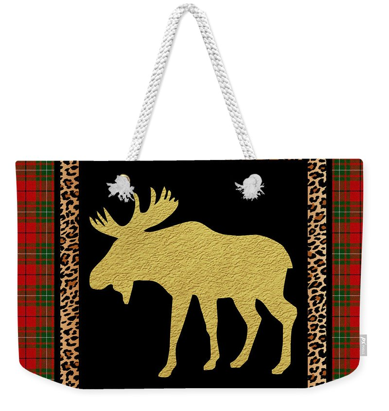 Jean Plout Weekender Tote Bag featuring the painting Rustic Woodland-jp3685 by Jean Plout