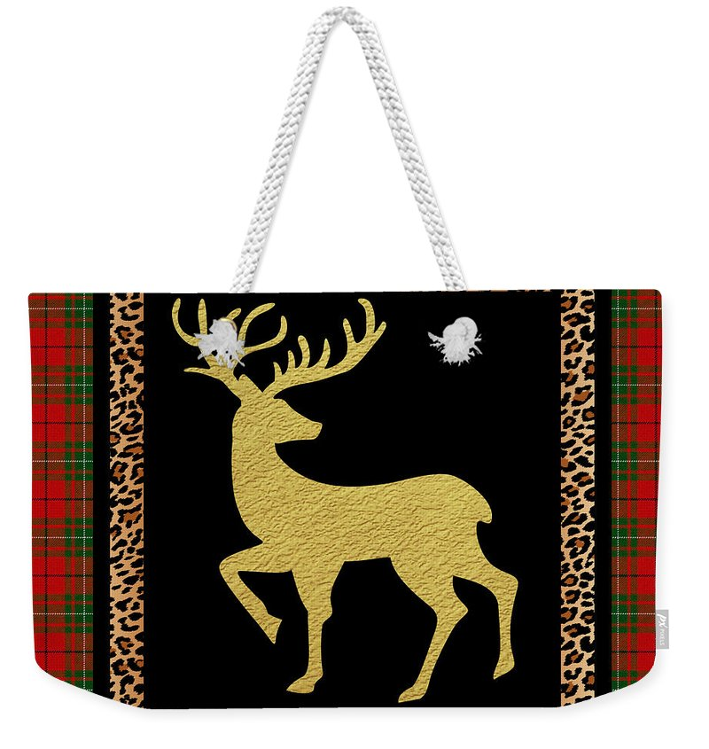 Jean Plout Weekender Tote Bag featuring the painting Rustic Woodland-jp3686 by Jean Plout