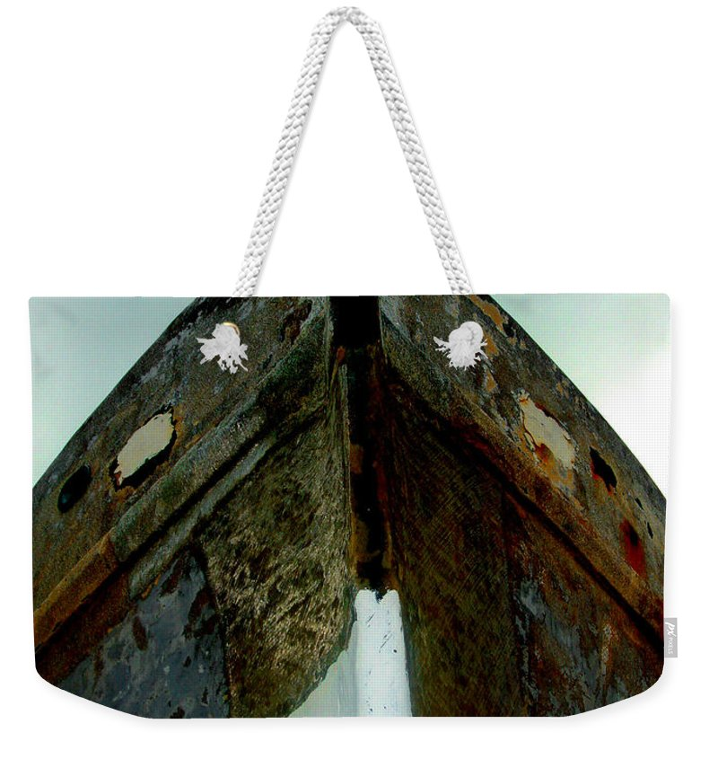 Boat Weekender Tote Bag featuring the photograph Rusty Bow by Susanne Van Hulst