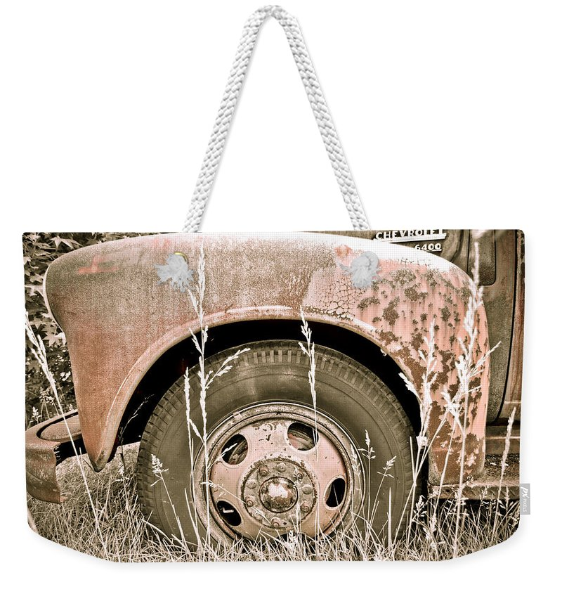 Weekender Tote Bag featuring the photograph Rusty But Trusty by Julie Niemela