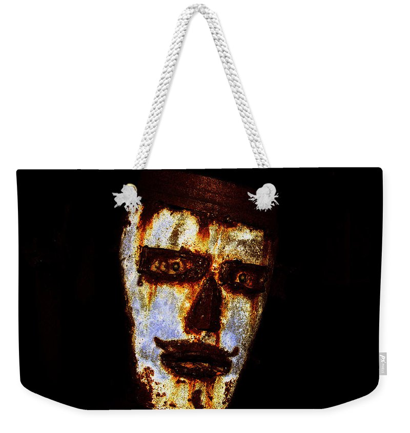 Rust Weekender Tote Bag featuring the painting Rusty by David Lee Thompson