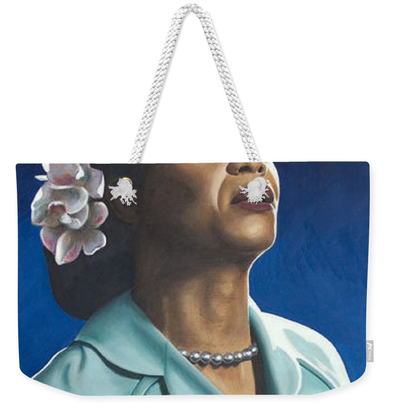 Portrait Weekender Tote Bag featuring the painting Ruth Jacott by Rob De Vries