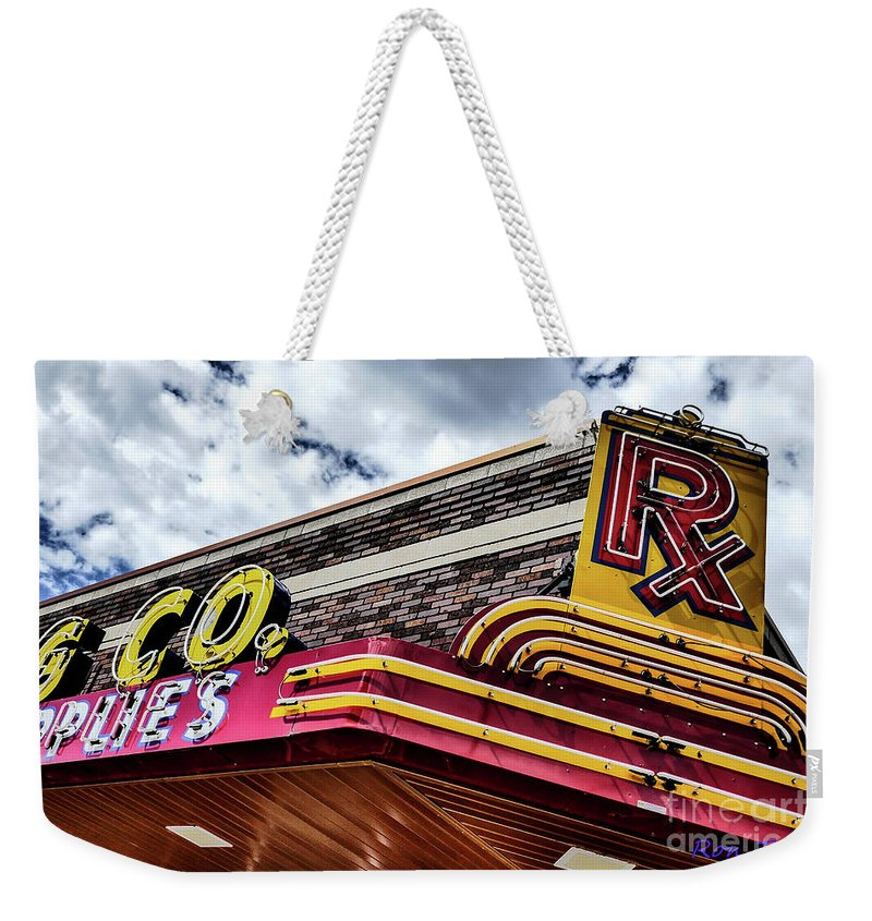 Rx Great Falls Weekender Tote Bag featuring the photograph Rx Great Falls, Mt by Ron Taylor