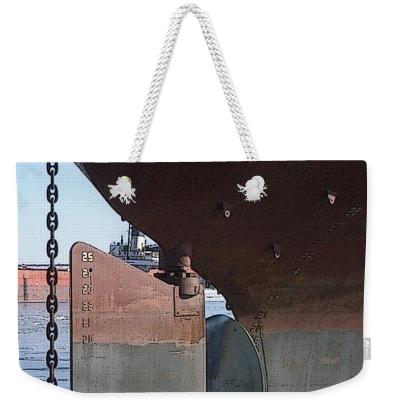 Prop Weekender Tote Bag featuring the photograph Ryerson Prop by Tim Nyberg