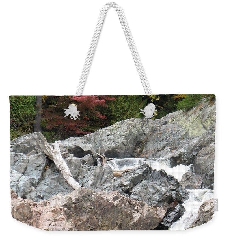 River Weekender Tote Bag featuring the photograph S Curve by Kelly Mezzapelle