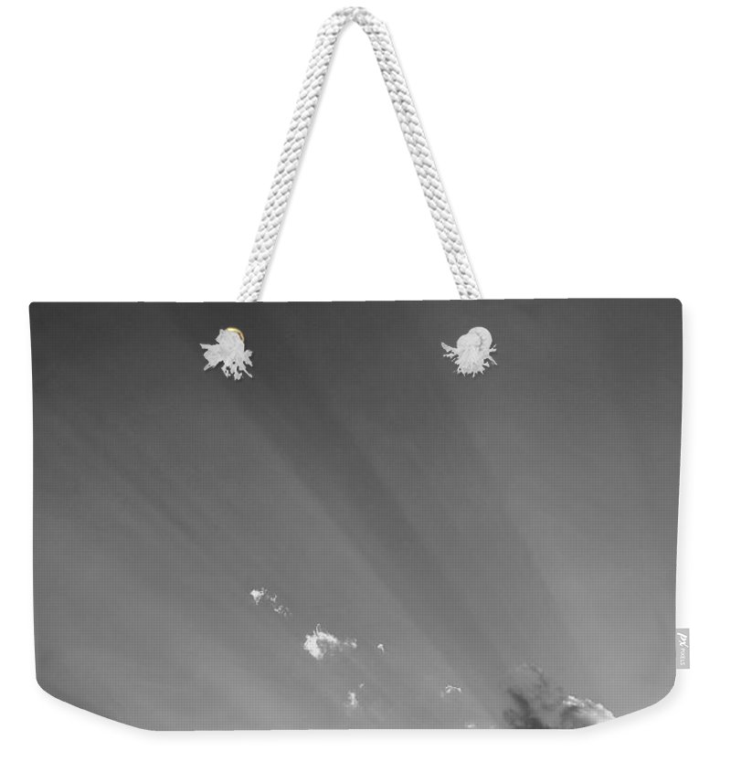 Beautiful Weekender Tote Bag featuring the photograph S D Blue Skys B W by Rob Hans