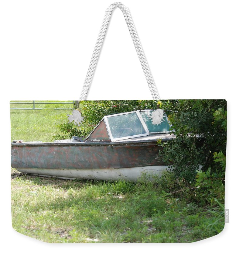 Boat Weekender Tote Bag featuring the photograph S S Minnow by Rob Hans