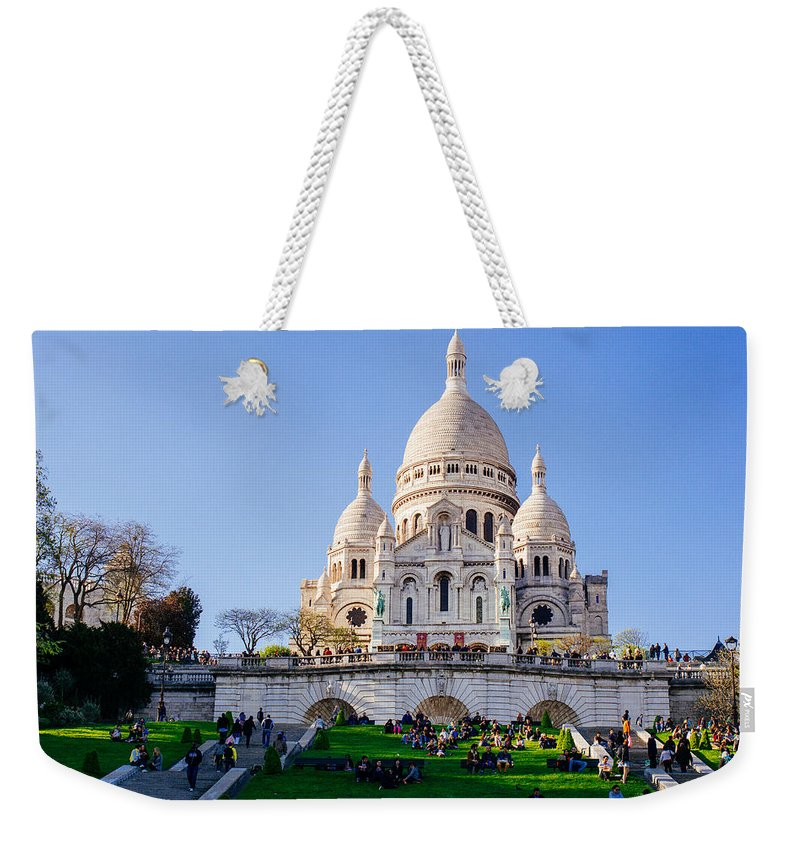 Sacre Coeur Weekender Tote Bag featuring the photograph Sacre Coeur Basilica by Pati Photography