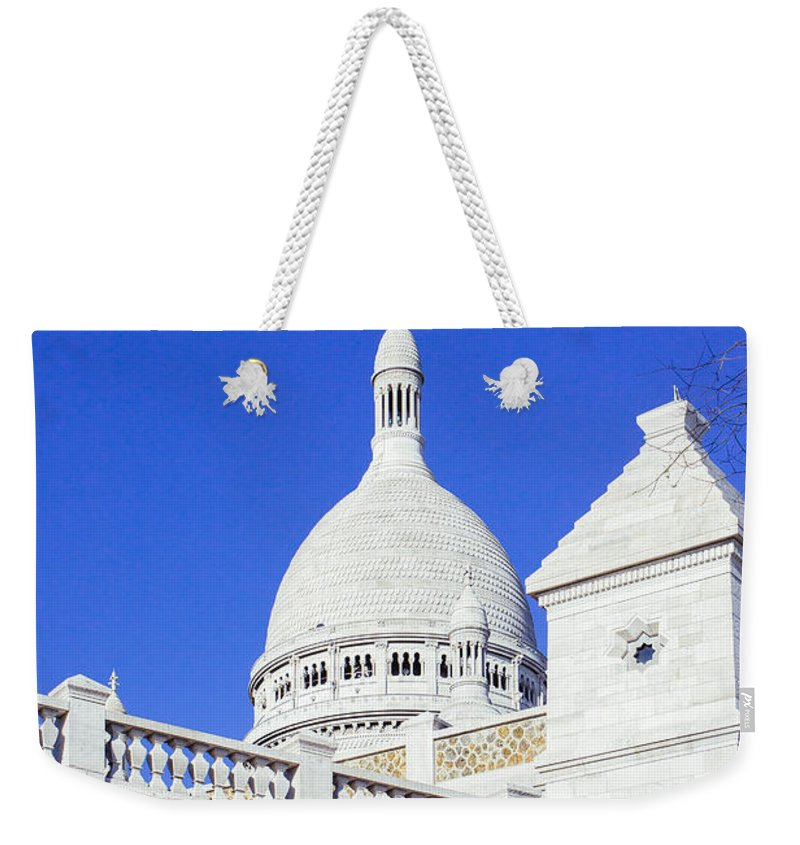 Closeup Weekender Tote Bag featuring the photograph Sacre Coeur Closeup by Pati Photography