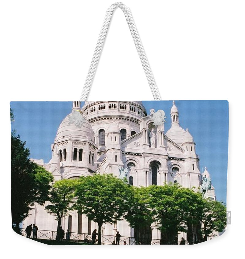 Church Weekender Tote Bag featuring the photograph Sacre Coeur by Nadine Rippelmeyer