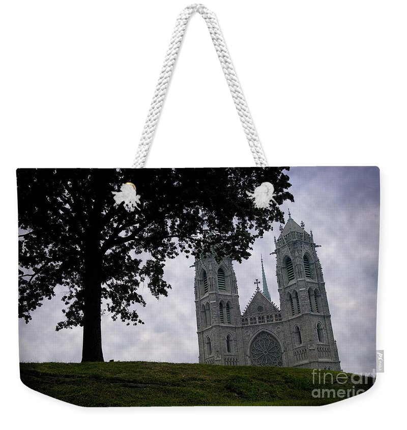 Newark Weekender Tote Bag featuring the photograph Sacred Heart Cathedral Newark New Jersey by Yuri Lev