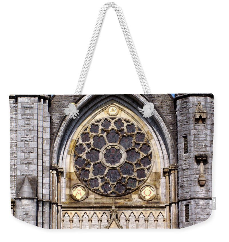 Ireland Weekender Tote Bag featuring the photograph Sacred Heart Church Detail Roscommon Ireland by Teresa Mucha