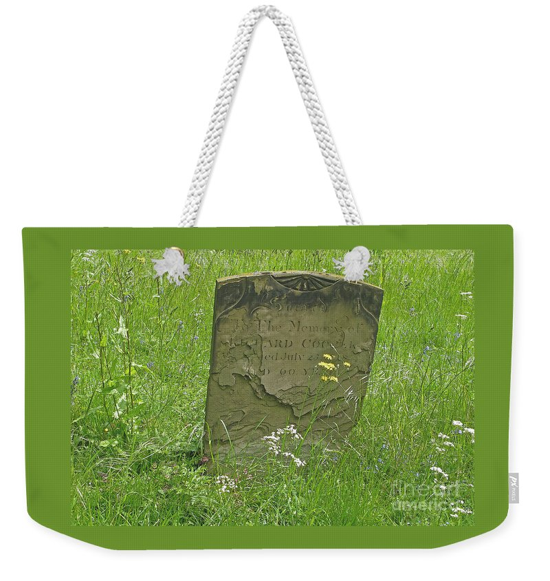 Tombstone Weekender Tote Bag featuring the photograph Sacred Memory by Ann Horn