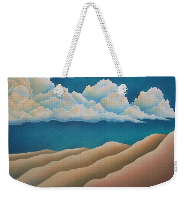 Landscape Weekender Tote Bag featuring the painting Sacred Night by Jeniffer Stapher-Thomas