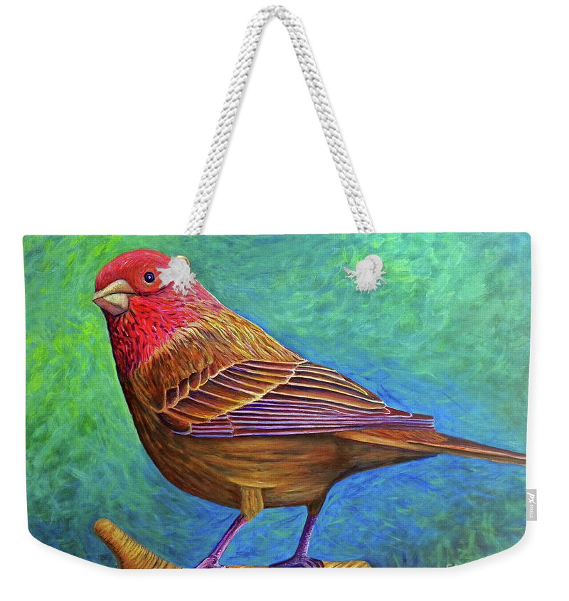 Bird Weekender Tote Bag featuring the painting Sacred Space by Brian Commerford